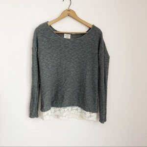 Hippie Rose Grey Sweater